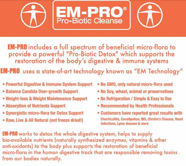 emprp probiotic candida cleanse supplement label ingredients